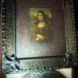 συλλεκτικός πίνακας με την.μονα Λίζα εποχή 1940 40