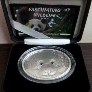 Fiji 2013 Panda $10 Fascinating Wildlife 1 Oz Silver Coin