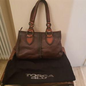 Δερμάτινη τσάντα Tosca blu