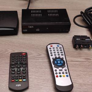 Πωλούνται Ψηφιακοί ΔέκτεςΤηλεόρασης Suntan DVB T Receiver/Usb/Crypto Redi 40 Mp+ καλώδια Video/Audio