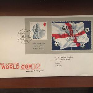 ΑΓΓΛΙΑ 2002  WORLD CUP 2002 FDC