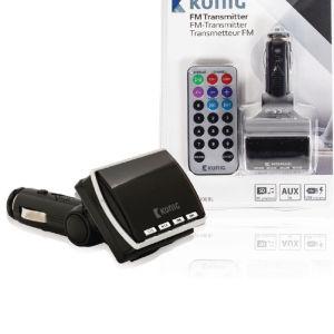 Konig  FM TRANSMITTER CSFM TRANS KONIG 100BL με τηλεχειριστήριο