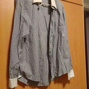 πουκάμισο αντρικό μπλε με άσπρο ριγέ