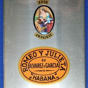 Κουτί πούρων . Romeo y Julieta de Alvarez y Garcia. Habana