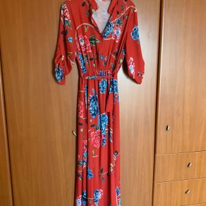 Floral maxi φόρεμα S-M