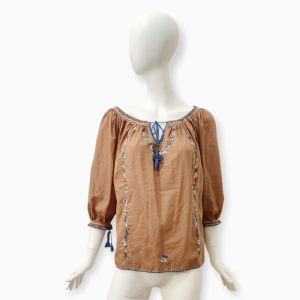 Brown Cotton Top Cacharel