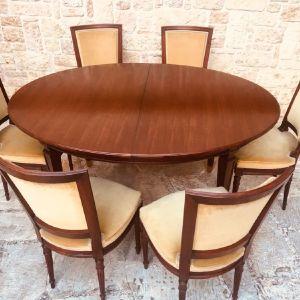 Τραπεζαρία από αυθεντικό ξυλο μαόνι, έξι ατόμων /  vintage / άριστη κατάσταση / 6 ατομων / Retro / σαλόνι / τραπεζαρίες / έπιπλα εποχης
