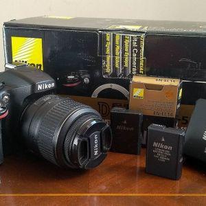 Nikon D5100 | NIKKOR 18-55mm F/3.5–5.6 & NIKKOR 55-200mm F/4–5.6 KIT με Battery Pack