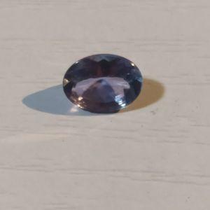 πωλειτε απο συλλεκτη ορυκτων πολυτιμων λιθων , πανεμοργος οβαλ τανζανιτης vvs καθαροτητας 7χ5 mm περιπου 1 ct.