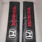 Μαξιλαρακια Ζωνης Honda Ανθρακι Carbon