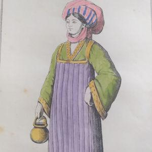 Πάτμος 1802 φορεσιά επιχρωματισμενη Χαλκογραφία Grassett de S.Sauveur