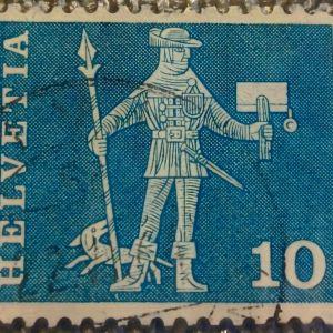 Ελβετία / Αγγελιαφόρος / Σφραγίδα (1963)