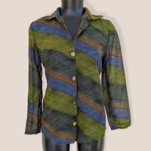 Ημιδιάφανο λαδί πουκάμισο