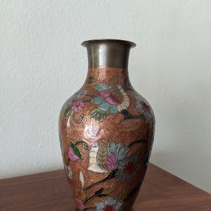 Μπρούτζινο βάζο αντίκα cloissone(Κλουαζονέ).