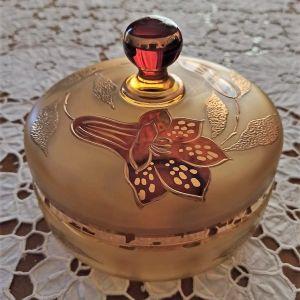 φοντανιέρα vintage κρυστάλλινη διακοσμημένη με βιτρώ
