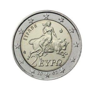 """Νόμισμα 2 Ευρώ με το """"S"""" του 2002"""