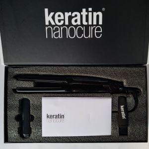 """Σετ περιποίησης Μαλλιών: Σίδερο """"Κeratin Nanocure Steam Iron"""" & Υγρή Κερατίνη (Vapor Fuel 250mL) & Σαμπουάν (2x100mL)"""
