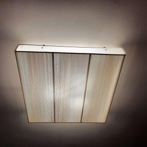 Φωτιστικό οροφής πλαφονιέρα από ύφασμα και μεταλλικά στοιχεία
