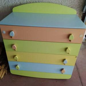 Παιδική πολύχρωμη συρταριερα