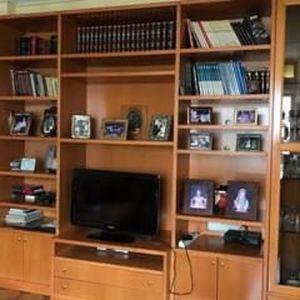 Βιβλιοθήκη μασίφ ξύλινη