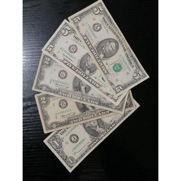 1+2+5 dolaria amerikis 1976-1988-1995 chartonomismata.
