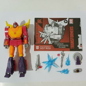 TRANSFORMERS THE MOVIE AUTOBOT STUDIO SERIES HOT ROD USED 100% COMPLETE