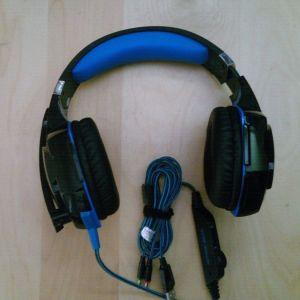 Gaming Headphones LED Light For PS4/PC Gamer