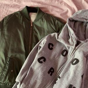 bomber jacket και ζακέτα