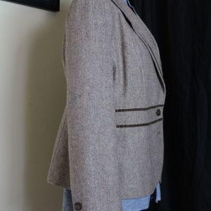 γυναικείο σακάκι μάλλινο ψαροκόκαλο