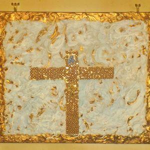 Πίνακας ακουαρέλα, ανάγλυφο μείγμα με λάδι και ακουαρέλα, διαστάσεις 0,60χ0,50 της ζωγράφου και συγγραφέως Μαρίας Παυλίδου Τασοπούλου.