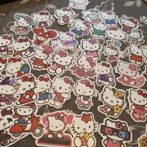 40 cute waterproof hello kitty stickers