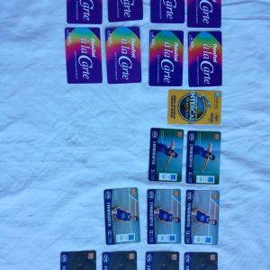 113 Παλιές Χρονοκάρτες + 2 τηλεκάρτες + 3 Κάρτες ξενοδοχείων + 1 Κάρτα + 2 Κυπριακές τηλεκάρτες + 1 Κάρτα Elpen