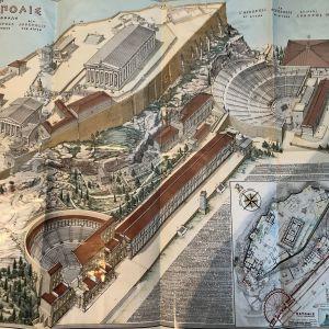 Πωλείται παλιός χάρτης της Ακρόπολης
