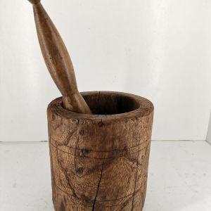 Γουδί ξύλινο εποχής 1930 πολύ σπάνιο κομμάτι