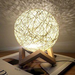 Φωτιστικό επιτραπέζιο led light rattan