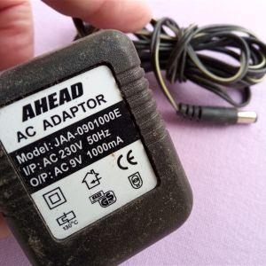 Μετασχηματιστής τροφοδοσίας AHEAD AC ADAPTOR Model: JAA-0901000E 9V 1000mA
