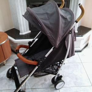 Καρότσι μωρού - Honeybaby  Χρώματος γκρί / μαύρο
