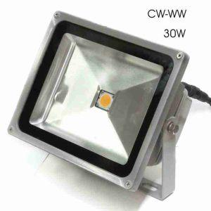 Προβολέας LED στεγανός CW/WW 30W/230V (διαθέσιμα 23 τμχ CW και 50 τμχ WW)