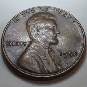 1952 P Lincoln Wheat Penny USA 1 cent Αμερική