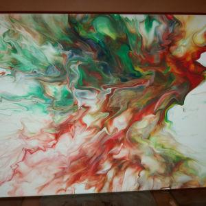 Αφηρημένη τέχνη - Πίνακες - Καμβάς με ακρυλικά.