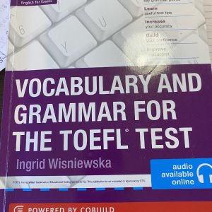 Collins vocabulary and grammar for Toefl test