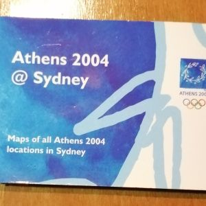 Συλλεκτικά αναμνηστικά. Χαρτης .Ολυμπιακών αγώνων.
