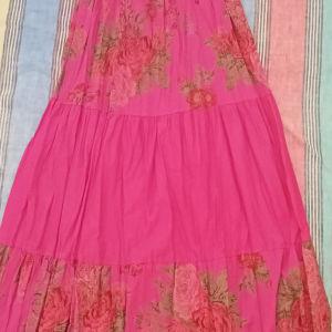 Φούξια κρουαζέ floral φόρεμα