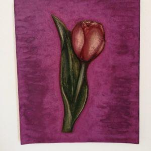 ξυλόγλυπτο λουλούδι