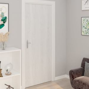 vidaXL Μεμβράνες Πόρτας Αυτοκόλλητες 2 τεμ. Λευκό Ξύλο 210x90 εκ. PVC-146111