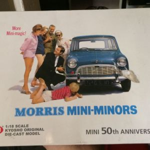 MORRIS MINI 1959 MINORS 50TH ANNIVERSARY EDITION / KYOSHO / 1:18 - RED / DIECAST