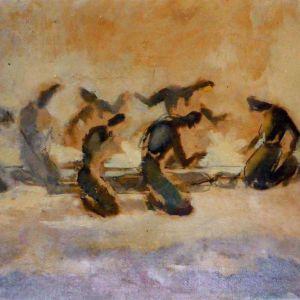 « Το μοιρολόι » έργο του 1952  ΔΗΜΗΤΡΗΣ ΠΟΥΛΙΑΝΟΣ
