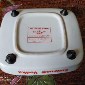 The  Bristol Pottery συλλεκτικό διαφημιστικό τασάκι.