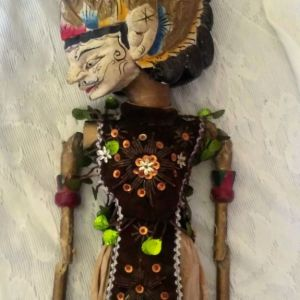 Παραδοσιακή Ινδονησιακή χειροποίητη κούκλα wayang golek