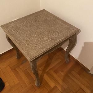 τραπεζάκι σαλονιου μασίφ σκαλιστό ξύλο